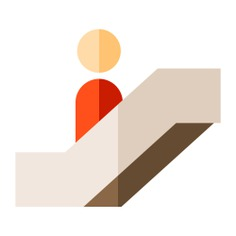 See more icon inspiration related to stair, escalator, escalator sign, transportation, stairs and travel on Flaticon.