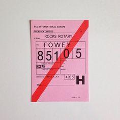 Haulage permit. 1970's.