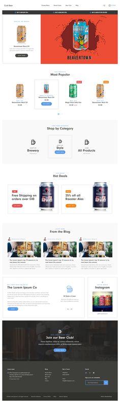 Craft Beer eCommerce Concept