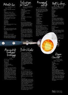 PACO-003.jpg (984×1378) #egg #handwriting #bartling #sebastian #bacigalupe #litograph #moa #fork