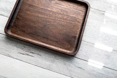 Walnut Catchall Valet Tray #wood #catchall #valettray