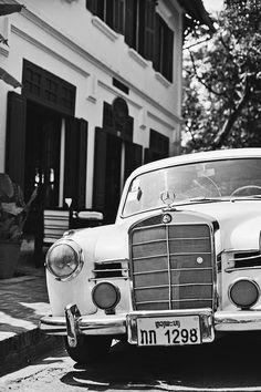 line x shape x colour #white #and #black #mercedes #vintage #street #car