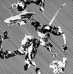 Buamai - Les Heures Sont Faites Pour L'homme, #abstract #white #stripes #black #and