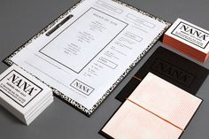 NANA #menu #identity #design #print #food
