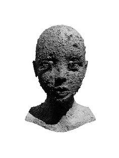Manuel Birnbacher #sculpture #white #black #portrait #and