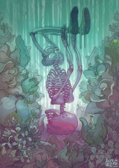 supersonic electronic / art - ARYZ. #skeleton