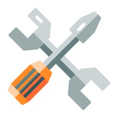 See more icon inspiration related to wrench, tools, settings, screwdriver, improvement, home repair and edit tools on Flaticon.