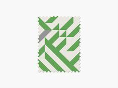 Nigeria #stamp #graphic #maan #geometric #illustration #minimal #2014 #worldcup #brazil