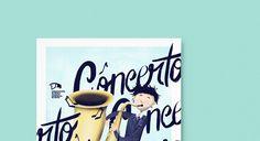 Concert at Calouste Gulbenkian Music Conservatory on Behance #braga #saxophone #agã¡ #classic #design #child #illustration #gulbenkian #calouste #studio #poster #music #porto #concert