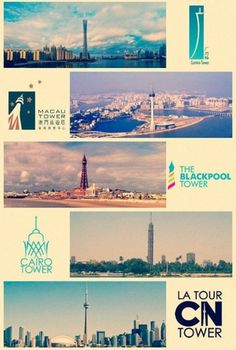 Landmark-logos-from-around-the-world4.jpg 600×890 pixels #logo #buildings