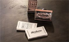 Handsome Cycles / Stamped hangtags by Marina Groh