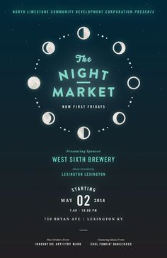 NightMarket_May #poster #event #publicity #night market #kentucky #astrology #moon #design #cycle