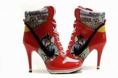 Nike Dunk SB High Heels White/Red #shoes