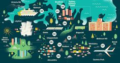 Brent Couchman #illustration #sydney #map