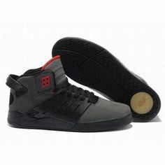 supra skytop 3 grey black red men sport skate shoes #shoes