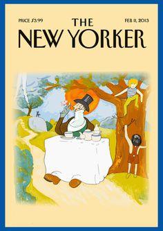 "Second idea, ""Tea for the Tillyman"" #yorker #illustration #magazine #new"