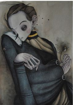 Painful Words #inspiration #illustration #portrait