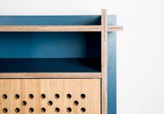 cupboard LIKO - plywood + oak veneer in combination with plywood + HPL - David Boon