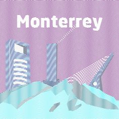 Monterrey city #monterrey #waves #ilustration