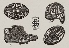 Toulouse SOET Section Rugby on Typography Served #illustration #typography
