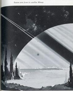 Saturn #space #scifi #illustration #retrofuturism