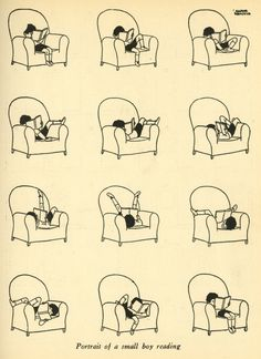Stephen Kroninger Gluyas Williams #illustration #book #boy #armchair #reading