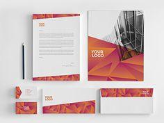Modern Green Orange Stationery. Download here: http://graphicriver.net/item/modern-green-orange-stationery/7822754?ref=abradesign