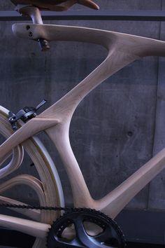 YojiroOshima WoodBike detail.jpg #bicycle #wood #bike