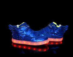 Kid's shoes hot style light up shoes LED lights blue