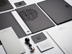Graphic ExchanGE a selection of graphic projects #identity #black #diecut #heraldry