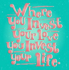 INVEST #vector #quote #illustration #type #typography
