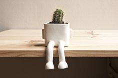 CJWHO ™ (Sitting Plant Pot by Wacamole Ceramic A plant...) #crafts #design #pot #art #lol #ceramic #funny #plant