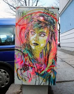 Colossal | An art and design blog. | Page 6 #stencil #portrait #art #street