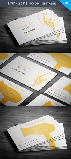 Free Female Hairstylist Business Card Template