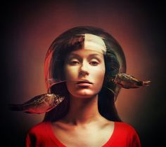 Surreal Self-Portrait Photography By Flora Borsi #inspiration #photography #portrait