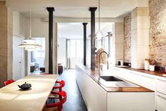 Parisian Apartment by CUT Architects - kitchen, kitchen design, kitchen ideas, interior design