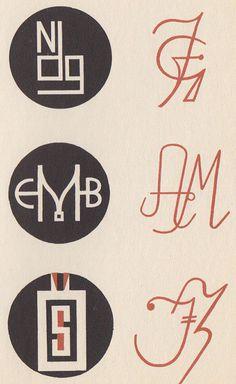 Max Körner's Das Neue Monogram und Zeichenwerk #calligraphy #type #50s #monogram