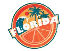Florida Sticker #florida #sticker #orange