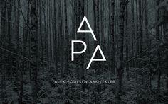 Architect Brand Identity – Alex Poulsen Arkitekter #logo #design #identity #branding