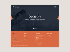 Orthotica Landing Page #carousel #ui #hero #corporate #image #web #typography