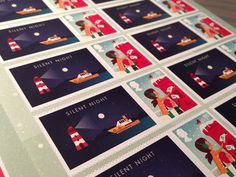 WooHoo... They have arrived... #stamp #iconset #icon #illustrator #snow #texture #night #illustration #shape #boat #xmas #winter