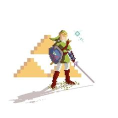 Pixel Link Art Print by Phil Giarrusso | Society6 #pixel #video #art #games #zelda