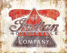pulp flesh — Vintage Motorcycle Posters #design #indian #vintage #company #logo #motorcycle
