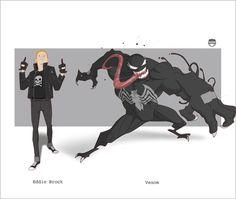 Eddie......Venom by CoranKizerStone on deviantART #eddie #venom #spiderman #marvel #kizer #brock