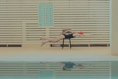 In Swimming Pool by Maria Svarbova - JOQUZ #photography #vintage
