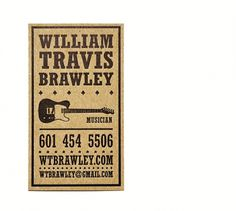Travis Brawley : Jay Yao Photography & Graphic Design #card #letterpress #business #musician
