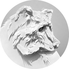 Paper cut. Forest on the Behance Network #bear #paper