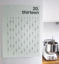 Minimalist Calendar #calendar