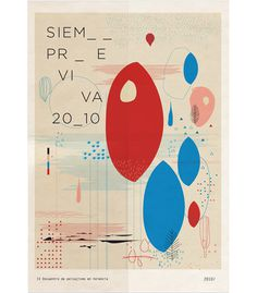 Siempreviva on Behance #blue #red #viva #siempre