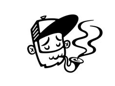 Another year, Another avatar by Rogie King #character #avatar #hipster #pipe #cap #beard #face #human #smoking